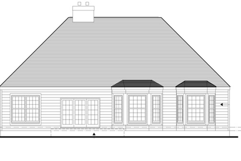 Traditional Exterior - Rear Elevation Plan #1053-22 - Houseplans.com