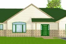 Ranch Exterior - Front Elevation Plan #980-8