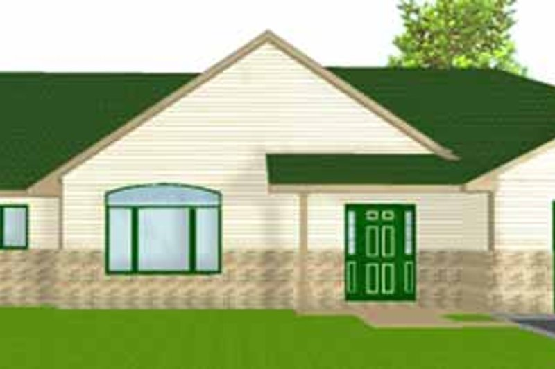 Dream House Plan - Ranch Exterior - Front Elevation Plan #980-8