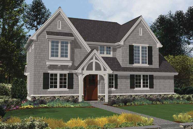 Tudor Exterior - Front Elevation Plan #48-872