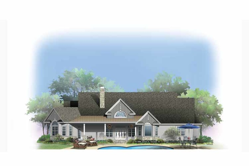 Craftsman Exterior - Rear Elevation Plan #929-887 - Houseplans.com