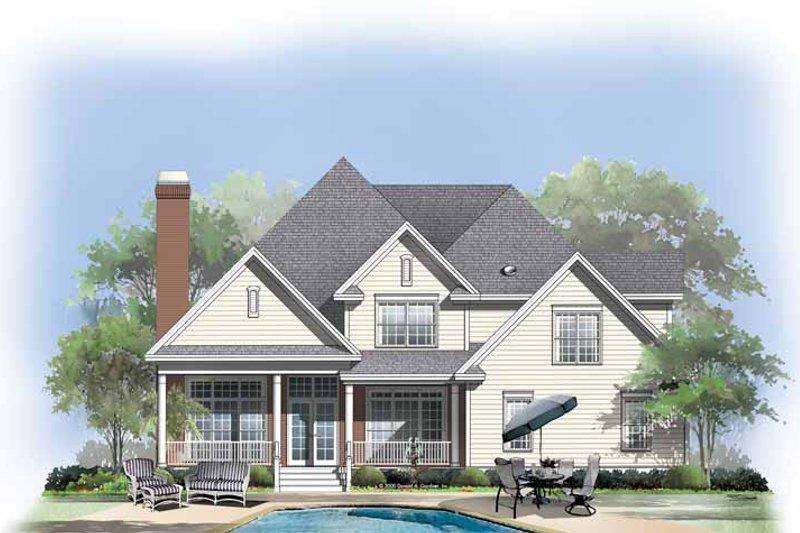 Traditional Exterior - Rear Elevation Plan #929-564 - Houseplans.com