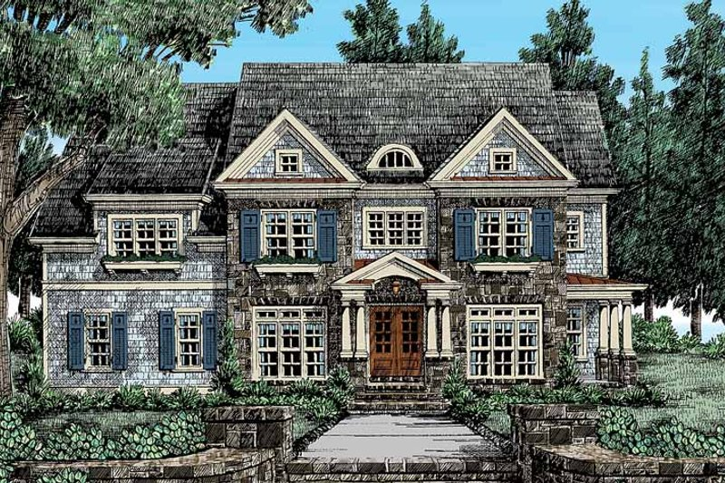 Traditional Exterior - Front Elevation Plan #927-406 - Houseplans.com