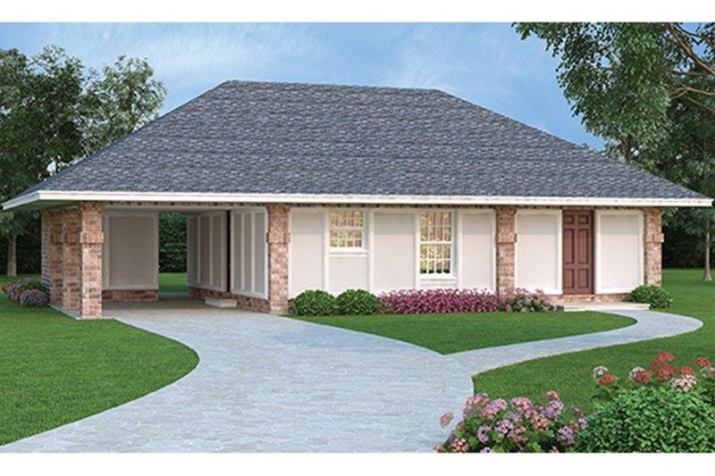 Dream House Plan - European Exterior - Front Elevation Plan #45-560