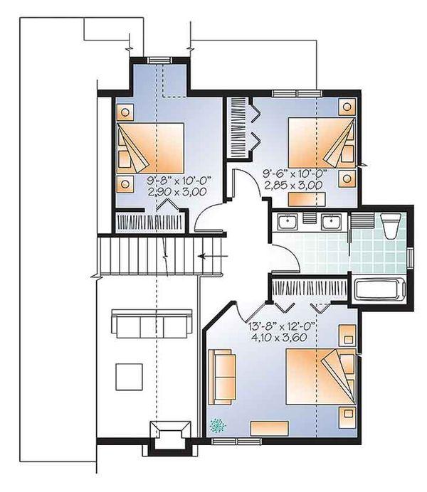 Traditional Floor Plan - Upper Floor Plan Plan #23-2610
