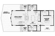 Contemporary Floor Plan - Main Floor Plan Plan #17-3377