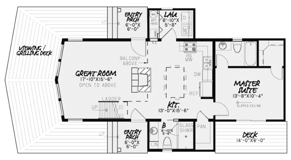 Contemporary Floor Plan - Main Floor Plan Plan #17-3377