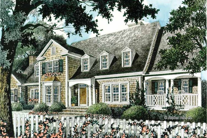 Country Exterior - Front Elevation Plan #429-344