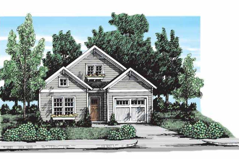 Craftsman Exterior - Front Elevation Plan #927-301