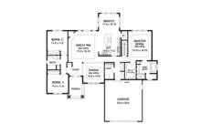 Ranch Floor Plan - Main Floor Plan Plan #1010-107