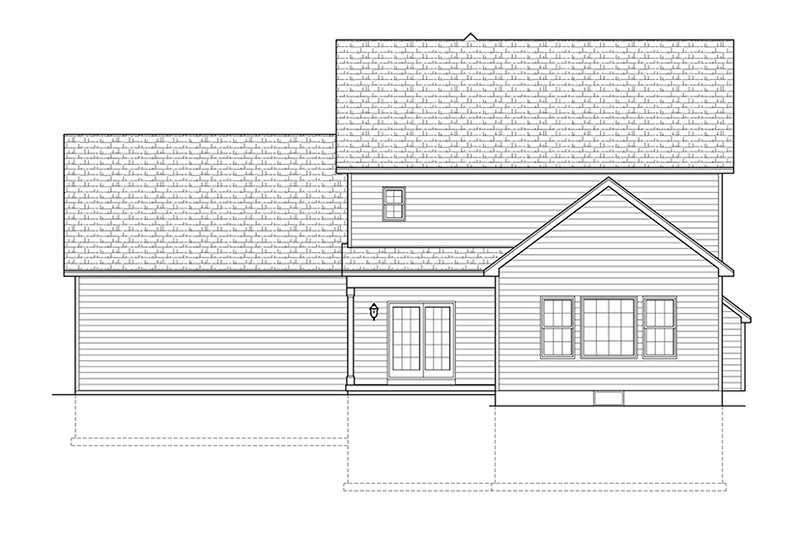 Traditional Exterior - Rear Elevation Plan #1010-123 - Houseplans.com