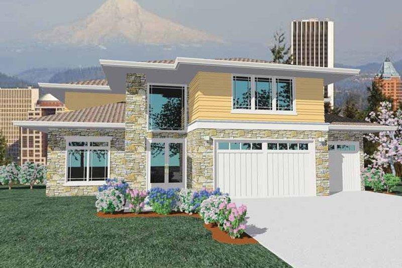 Prairie Exterior - Front Elevation Plan #509-425