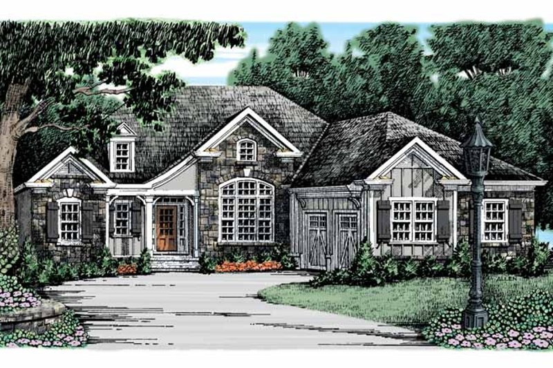 Dream House Plan - Country Exterior - Front Elevation Plan #927-911