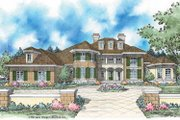 European Style House Plan - 4 Beds 3.5 Baths 4875 Sq/Ft Plan #930-348 Exterior - Front Elevation