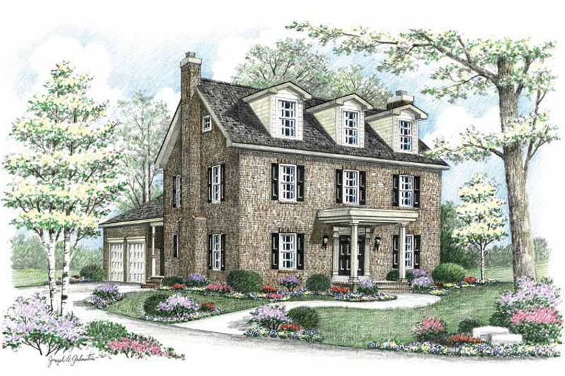 Country Exterior - Front Elevation Plan #1002-8 - Houseplans.com