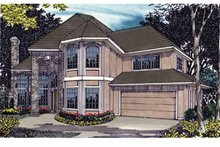 House Plan Design - Traditional Exterior - Front Elevation Plan #509-361
