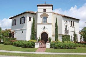 Architectural House Design - Mediterranean Exterior - Front Elevation Plan #1058-13