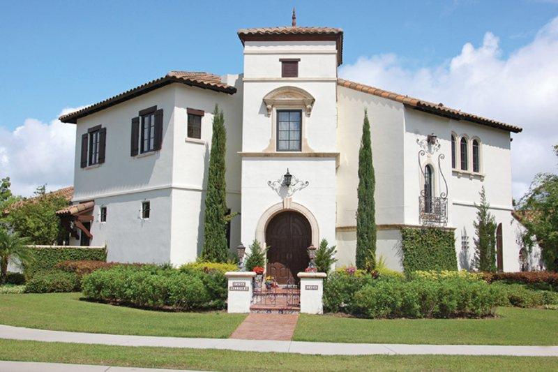 House Plan Design - Mediterranean Exterior - Front Elevation Plan #1058-13