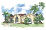 Mediterranean Style House Plan - 2 Beds 2 Baths 1608 Sq/Ft Plan #930-383 Exterior - Front Elevation
