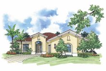 House Plan Design - Mediterranean Exterior - Front Elevation Plan #930-383