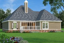 Home Plan - Exterior - Rear Elevation Plan #45-570