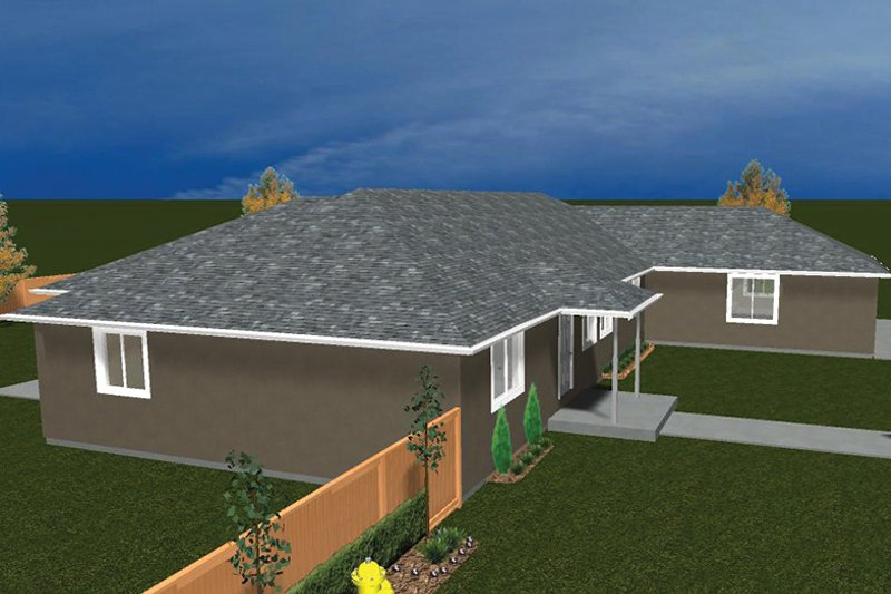 Ranch Exterior - Other Elevation Plan #1060-31 - Houseplans.com