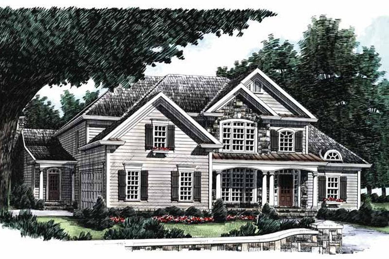 Dream House Plan - Country Exterior - Front Elevation Plan #927-642