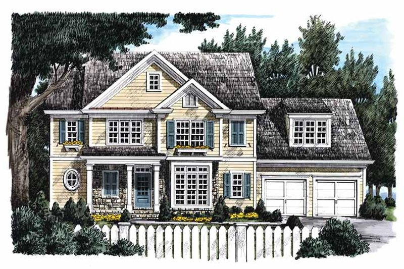 Country Style House Plan - 4 Beds 3 Baths 2110 Sq/Ft Plan #927-763 Exterior - Front Elevation
