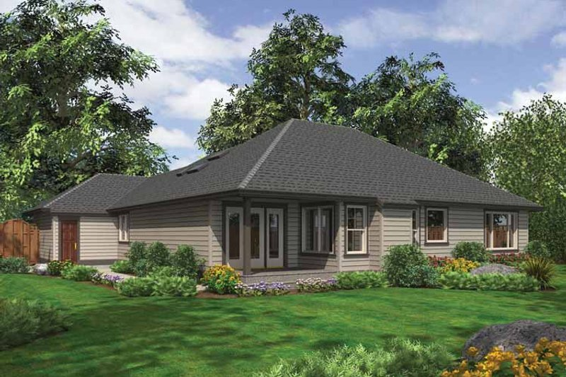 Traditional Exterior - Rear Elevation Plan #132-536 - Houseplans.com