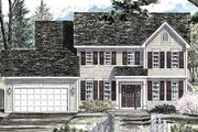Colonial Style House Plan - 4 Beds 2.5 Baths 2089 Sq/Ft Plan #316-291 Exterior - Front Elevation