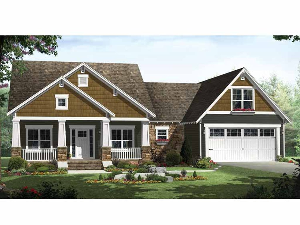 Craftsman style house plan 3 beds 2 baths 1816 sq ft for Craftsman vs mission style
