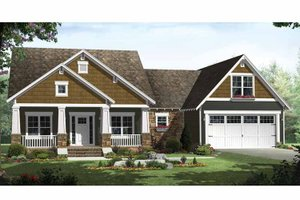 Craftsman Exterior - Front Elevation Plan #21-425