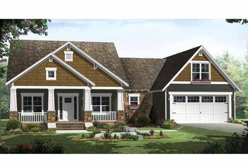 House Design - Craftsman Exterior - Front Elevation Plan #21-425