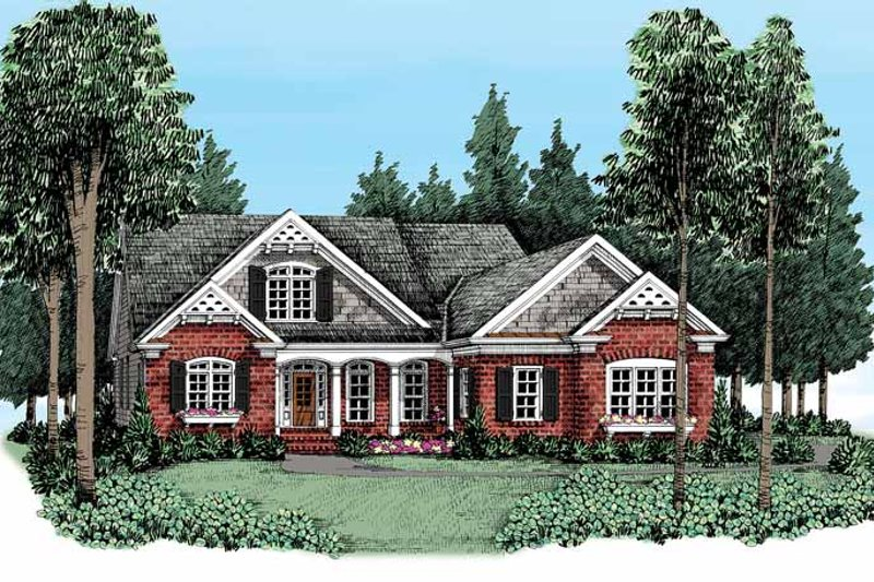 Country Exterior - Front Elevation Plan #927-371