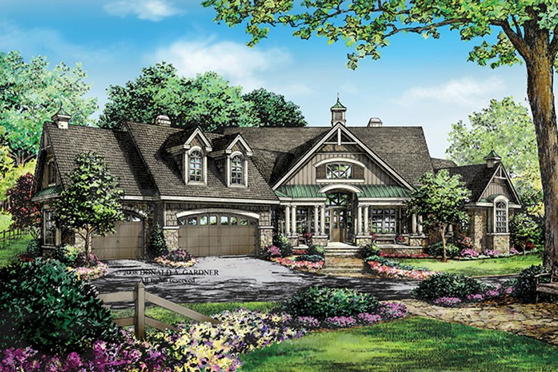 Craftsman Exterior - Front Elevation Plan #929-920 - Houseplans.com