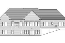 House Plan Design - Craftsman Exterior - Rear Elevation Plan #1010-111