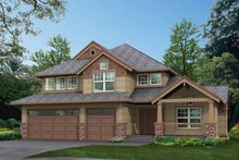 Home Plan - Craftsman Exterior - Front Elevation Plan #132-295