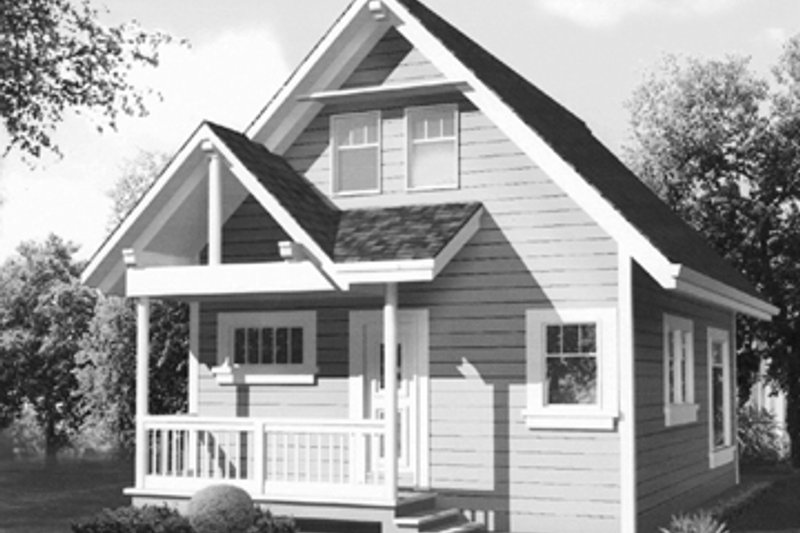 Country Exterior - Front Elevation Plan #118-158 - Houseplans.com