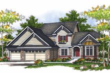 Dream House Plan - European Exterior - Front Elevation Plan #70-1400