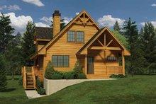 Cabin Exterior - Front Elevation Plan #118-150