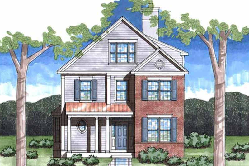 Colonial Exterior - Front Elevation Plan #1029-6