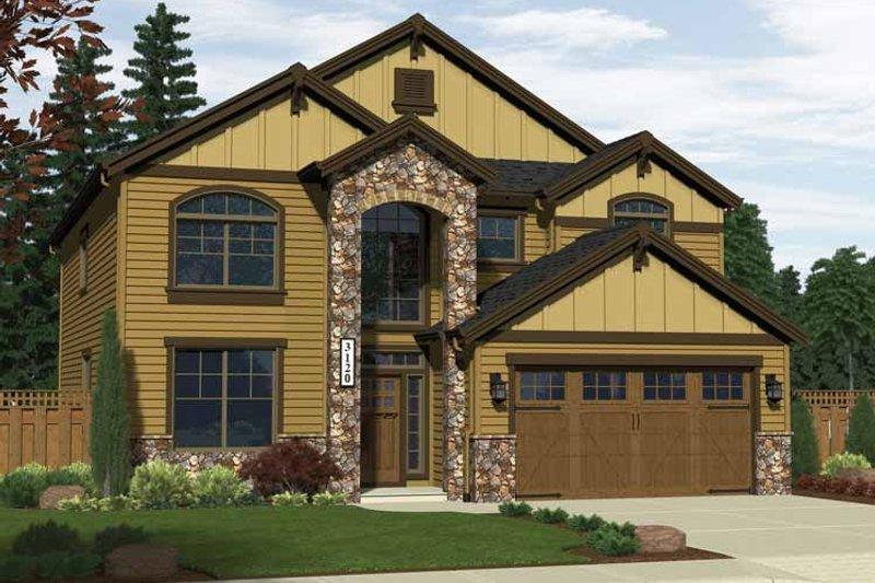 Traditional Style House Plan - 5 Beds 2.5 Baths 3120 Sq/Ft Plan #943-12 Exterior - Front Elevation