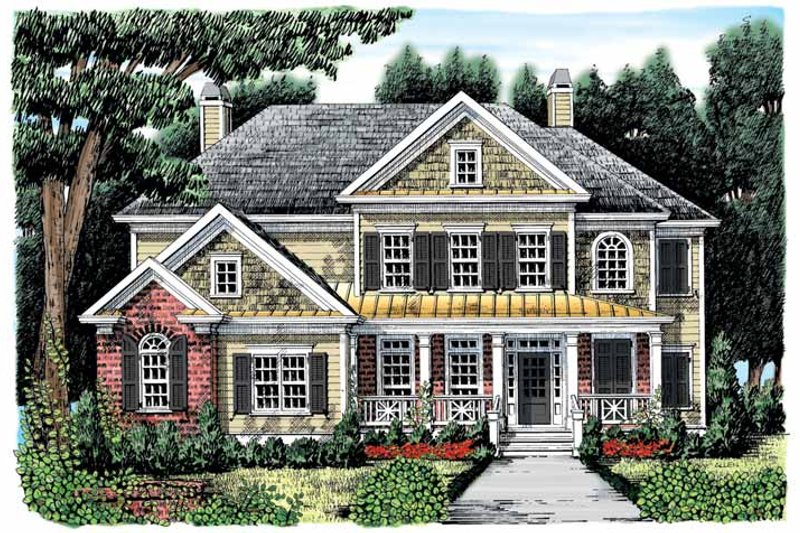 Colonial Exterior - Front Elevation Plan #927-889