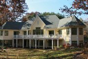 European Style House Plan - 2 Beds 2.5 Baths 2699 Sq/Ft Plan #928-190 Exterior - Rear Elevation