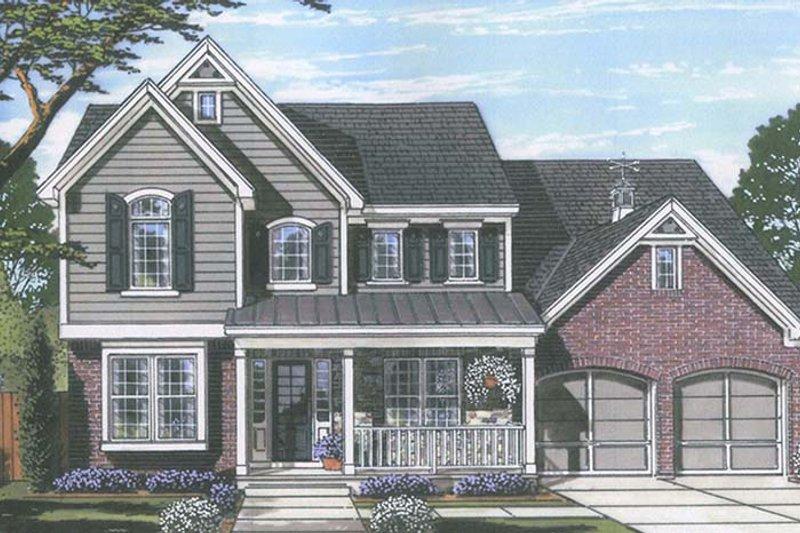 Colonial Exterior - Front Elevation Plan #46-860 - Houseplans.com