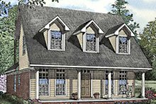 House Plan Design - Country Exterior - Front Elevation Plan #17-3205