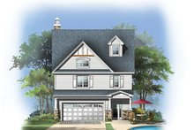 Craftsman Exterior - Rear Elevation Plan #929-986