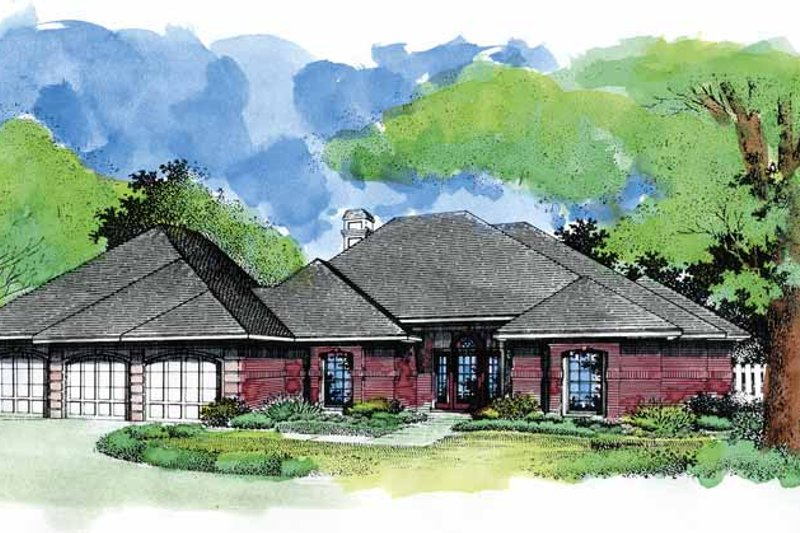 European Exterior - Front Elevation Plan #320-968