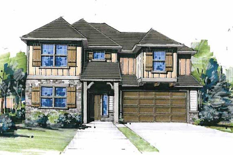 Craftsman Exterior - Front Elevation Plan #509-239