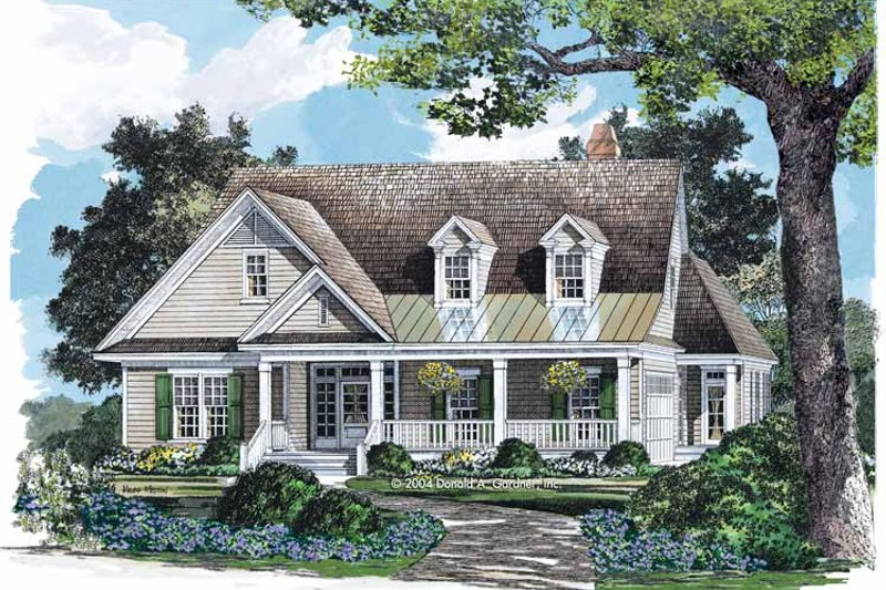 Dream House Plan - Country Exterior - Front Elevation Plan #929-713